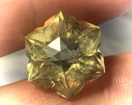 10.44ct  UNIQUE CUT CITRINE - what a beauty! VVS TOP GRADE LUSTER