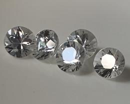 5 piece Jewellery Grade ZIRCON gems 4.20mm each VVS
