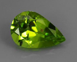 2.90 Cts High Best Natural Apple Green pear Pakistan Peridot~