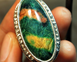 130.20CRT BEAUTY CORAL AGATE CUSTOM RING ZIRCONIA