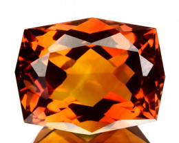Natural Golden Orange Citrine Fancy Cut Brazil 6.08 Cts