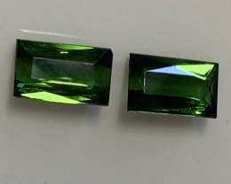 Forest Emerald Green Tourmaline Pair No reserve ~ beautiful stones