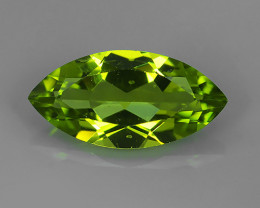2.85 Cts.Magnificient Top Sparkling Intense Green Peridot!!