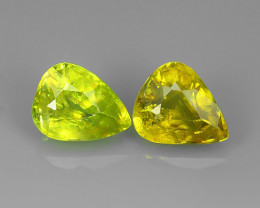 3.25 CTS AMAZING RAREST ! TOP FIRE NATURAL GREENISH-YELLOW COLOR SPHENE!!