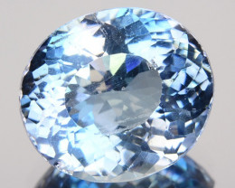 Rare! Natural Blue Apatite Heated Oval Brazil 2.19 Cts
