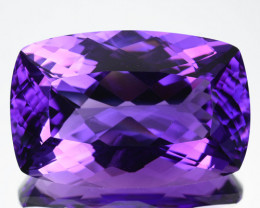 Natural Top Purple Color Amethyst Cushion Bolivia 16.70Ct