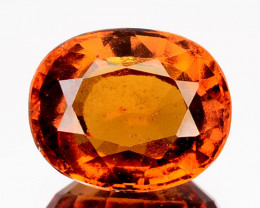 Natural Cinnamon Orange Hessonite Garnet Oval Srilanka 1.87 Cts