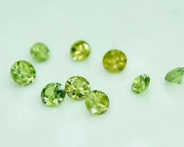 1.63 Crt Natural Demantoid Parcels 9 Pcs Faceted Gemstone.( AG 21)