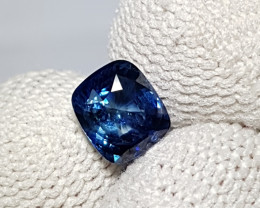 UNHEATED 1.07 CTS CERTIFIED NATURAL VIVID BLUE SAPPHIRE FROM SRI LANKA