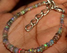 16 Crt Natural Ethiopian Welo Fire Opal & Peridot Beads Bracelet 4