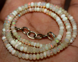 22 Crt Natural Ethiopian Welo Fire Opal Beads Necklace 19