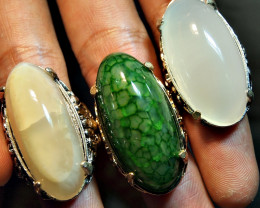 168.00CRT PARCELL PAIR DRAGON SKIN WHITE CALCEDONY