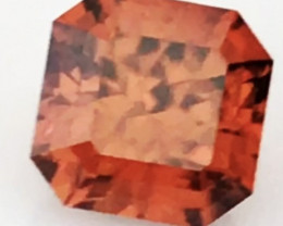 Custom Cut 2.37ct Intese Orange Zircon - Tanzania G409