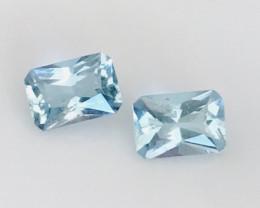Very Luminous Aquamarine Earring Pair     G472
