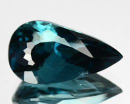Glittering! 2.29Ct Natural Indigolite Blue Tourmaline Pear