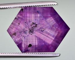 Rarest 14.40 Ct Corundum Sapphire Trapiche From Kashmir Valley