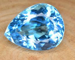 Natural Blue Topaz 30.42 Cts Top Clean Gemstone