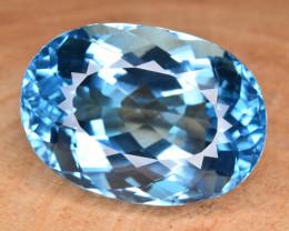 Natural Blue Topaz 33.59 Cts Top Clean Gemstone