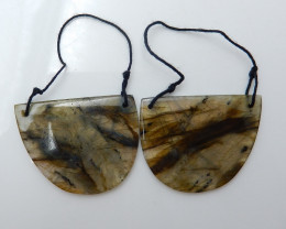 Labradorite Drilled Earrings Bead, stone for earrings making B869