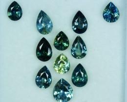 Custom 5.91Ct Natural Australian Green Blue Sapphire Parcel