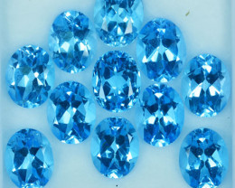 Calibrated 26.27Ct Natural Baby Blue Topaz Oval 9 X 7mm Parcel