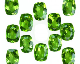Parrot Green 15.21Ct Natural Green Peridot Cushion 8 X 6mm Parcel