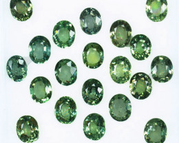 Pleasant Green 10.07Ct Natural Green Sapphire Oval 5 X 4 mm Parcel