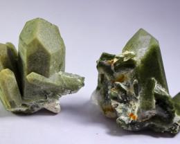 207CT Natural - Unheated  Green Chlorine Quartz Crystal Specimen