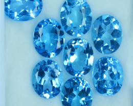Custom Calibrated 25.21Ct Natural Baby Blue Topaz Oval 10 X 8mm