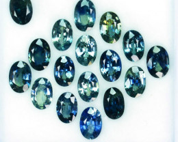 10.02Ct Natural Blue Green Sapphire Australia Oval 6 X 4mm Parcel