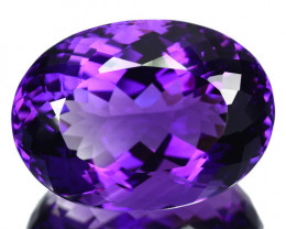 Natural Purple Amethyst Oval Bolivia 18.57 Cts