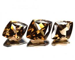 Diamond Shaped 18.35Ct Natural Smoky Quartz Set