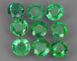 1.01 CTS EXCELLENT~NATURAL EMERALD ~ ROUND  ~ NICE QUALITY GOOD COLOR GOOD