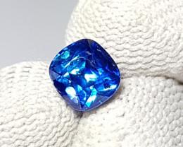 CERTIFIED 2.16 CTS NATURAL STUNNING ROYAL BLUE SAPPHIRE SRI LANKA