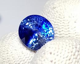 CERTIFIED 3.55 CTS TOP QUALITY STUNNING ROYAL BLUE SAPPHIRE SRI LANKA
