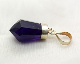 19 Cts Beautiful Faceted Amethyst Pendant@ 01 Piece