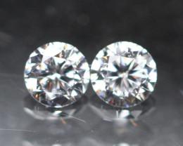 2.20mm G/VS Natural Round Brilliant Cut Diamond Pair