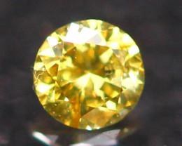 2.36mm Untreated VS Round Brilliant Cut Fancy Vivid Color Diamond E2702