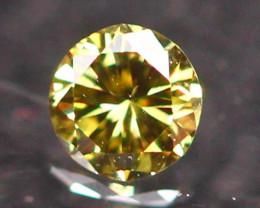 2.34mm Untreated VS Round Brilliant Cut Fancy Vivid Color Diamond E2703