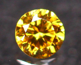 2.40mm Untreated VS Round Brilliant Cut Fancy Vivid Color Diamond E2705
