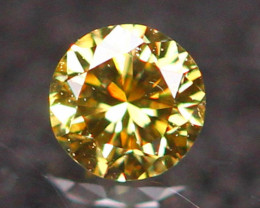 2.37mm Untreated VS Round Brilliant Cut Fancy Vivid Color Diamond E2706