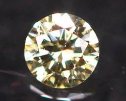 2.36mm Untreated VS Round Brilliant Cut Fancy Vivid Color Diamond E2708