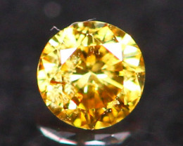 2.32mm Untreated VS Round Brilliant Cut Fancy Vivid Color Diamond E2709