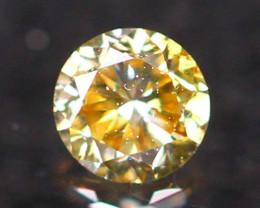 2.31mm Untreated VS Round Brilliant Cut Fancy Vivid Color Diamond E2711