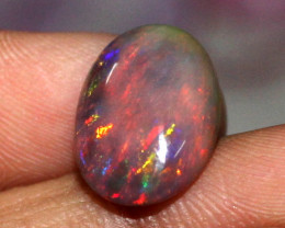 3.65 Crt Natural Ethiopian Welo Fire Smoked Opal Cabochon 115