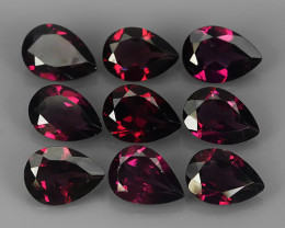 7.00 CTS MAGNIFICENT NATURAL RARE TOP QUALITY PEAR RED RHODOLITE NR!!