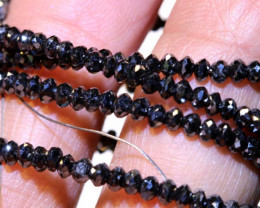 22.10 CTS METALLIC BLACK FACETED DIAMOND STRAND SD-302