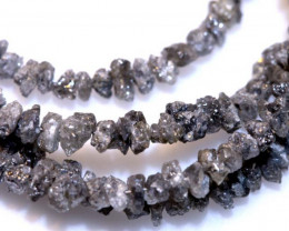 24.25 CTS GREY ROUGH DIAMOND STRAND SD-304