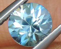 6mm Master Cut Natural Zircon Blue