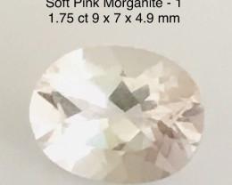 Pretty Soft Pink 1.75ct Oval Morganite  - G475